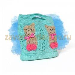 Детская сумочка с котиками
